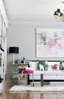 Cute bedroom design ideas with pink and green walls 60