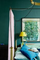 Cute bedroom design ideas with pink and green walls 61
