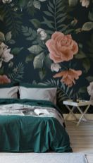 Cute bedroom design ideas with pink and green walls 63