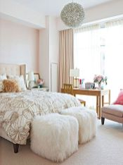 Cute bedroom design ideas with pink and green walls 75