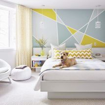 Cute bedroom design ideas with pink and green walls 79