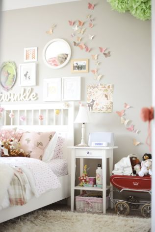Cute bedroom design ideas with pink and green walls 84