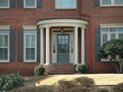 Exterior paint color ideas with red brick 19