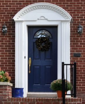 Exterior paint color ideas with red brick 28