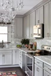 Gray color kitchen cabinets 01