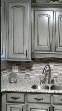 Gray color kitchen cabinets 05