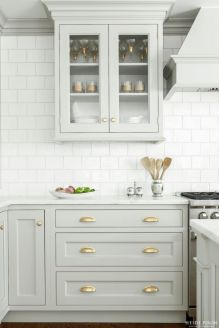 Gray color kitchen cabinets 06