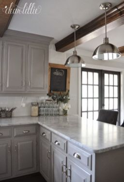 Gray color kitchen cabinets 07
