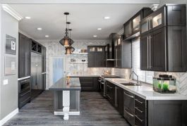 Gray color kitchen cabinets 11