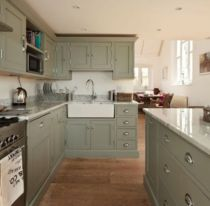 Gray color kitchen cabinets 15