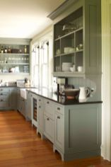 Gray color kitchen cabinets 17