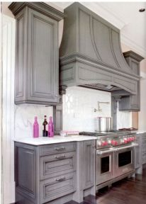 Gray color kitchen cabinets 21