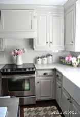 Gray color kitchen cabinets 42