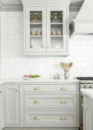 Gray color kitchen cabinets 44