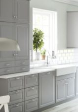 Gray color kitchen cabinets 51