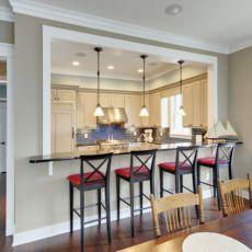 Half wall kitchen designs 22