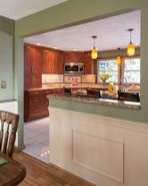 Half wall kitchen designs 27