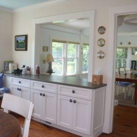 Half wall kitchen designs 44