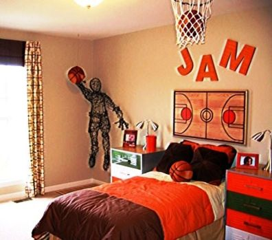 Inspiring bedroom design ideas for boy who loves basketball 01