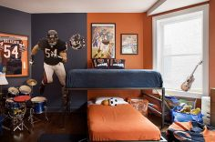 Inspiring bedroom design ideas for boy who loves basketball 03