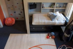 Inspiring bedroom design ideas for boy who loves basketball 64