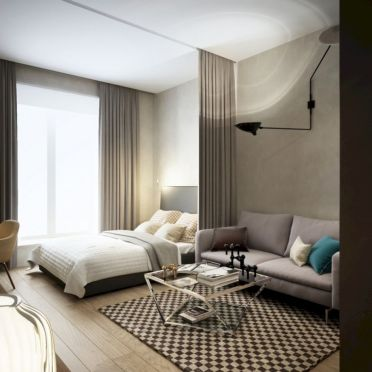 Inspiring modern studio apartment design ideas (7)