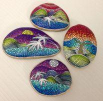 Inspiring painted rocks for garden ideas (7)
