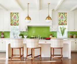 Kitchens design ideas with green walls 04