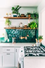 Kitchens design ideas with green walls 30