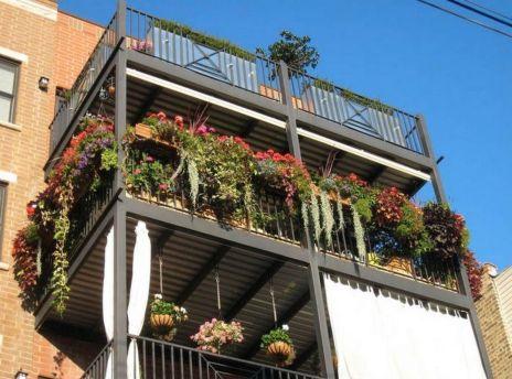 Modern apartment balcony decorating ideas 70