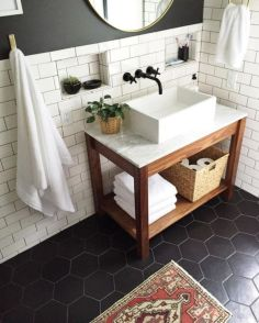 Modern small bathroom tile ideas 046