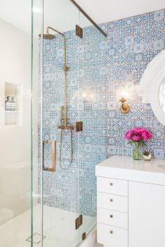 Modern small bathroom tile ideas 058