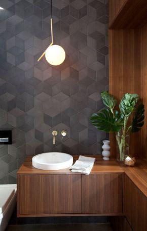 Modern small bathroom tile ideas 118