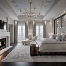 Stunning bedrooms interior design with luxury touch 60