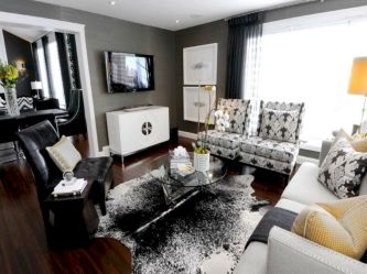 Stunning gray and white living room decor ideas 09