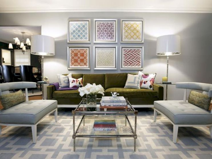 Stunning gray and white living room decor ideas 20