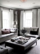 Stunning gray and white living room decor ideas 44