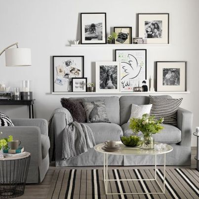 Stunning gray and white living room decor ideas 52