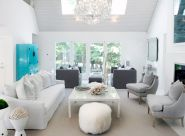 Stunning gray and white living room decor ideas 60