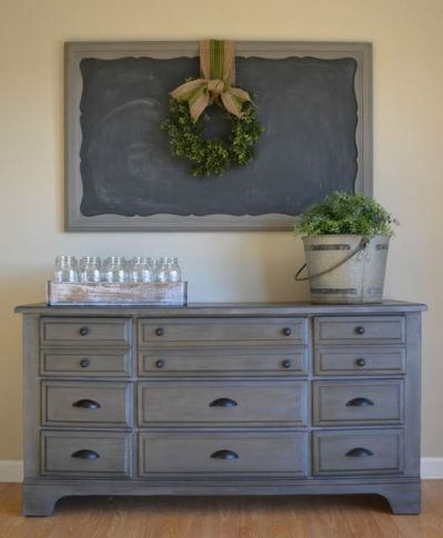 Stunning grey chalk paint furniture 41