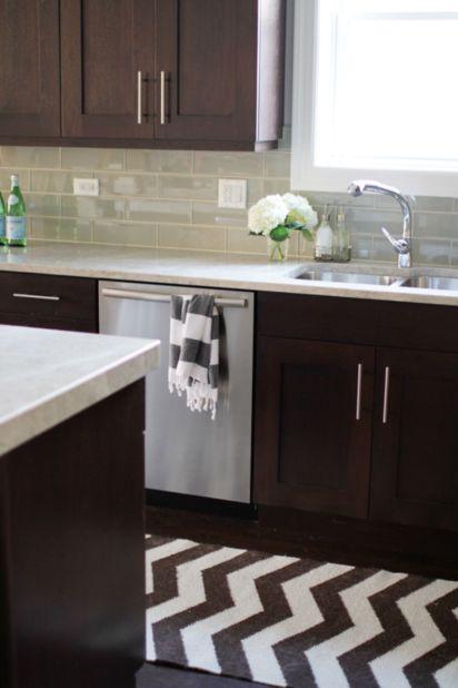 Stylish dark brown cabinets kitchen 04