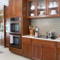 Stylish dark brown cabinets kitchen 32