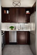 Stylish dark brown cabinets kitchen 40