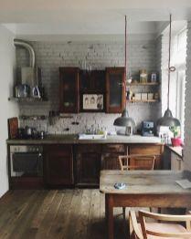 Stylish dark brown cabinets kitchen 46