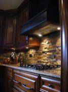 Stylish dark brown cabinets kitchen 51