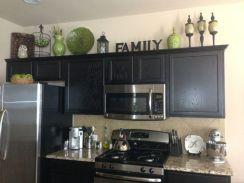 Stylish dark brown cabinets kitchen 69