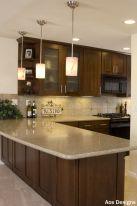 Stylish dark brown cabinets kitchen 76