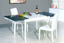 Stylish painted dining room table 04
