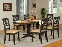 Stylish painted dining room table 05