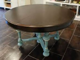 Stylish painted dining room table 07